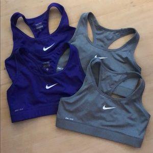 Nike pro combat sports bra bundle